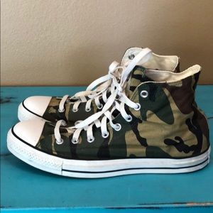 Men's Camouflage High Top Converse